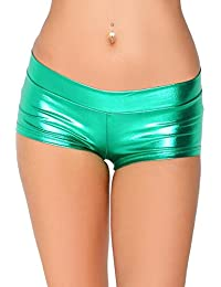 Metallic Booty Shorts, Shiny Bottoms For Dancing, raves, Festivals, Costumes