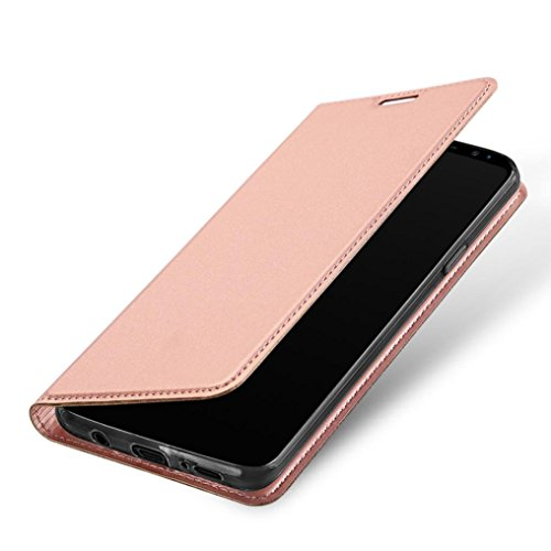 Price comparison product image Enjocho Galaxy S9 Plus Case,Slim Fit Leather Wallet Case with Credit Card Slots Holder Flip Stand Case Cover For Samsung Galaxy S9 Plus 6.2inch (Pink)