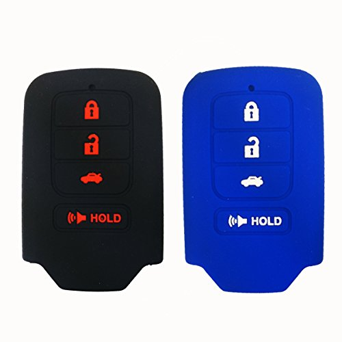 2Pcs Coolbestda Silicone Key Fob Skin Jacket Remote Case ...