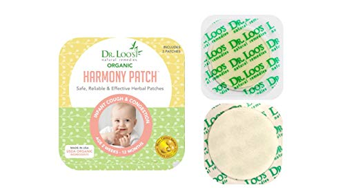 Dr Loo#039s NATURAL REMEDIES Organic Herbal Sticker Patches for Cough and Congestion for 2 weeks12 Months Infants 12 Patches