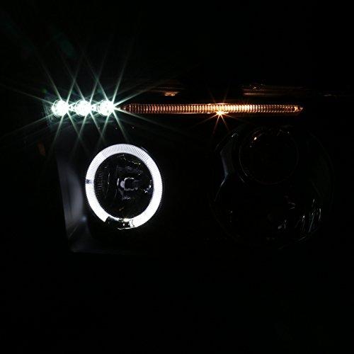 Spec-D Tuning 2LHP-TUN07JM-TM Black Projector Headlight Halo Led