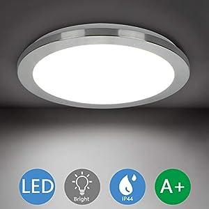 PADMA Bathroom Lights Ceiling,15W,6000K Nature White, LED Panel Light Fitting Indoor Lamp for Bathroom, Kitchen, Bedroom, Hallway, Corridor, Balcony, Living Room