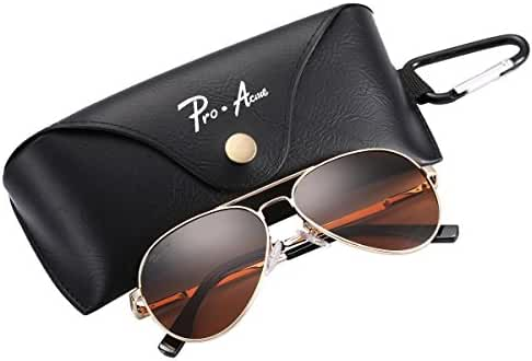 Pro Acme Small Polarized Aviator Sunglasses for Adult Small Face and Junior,52mm