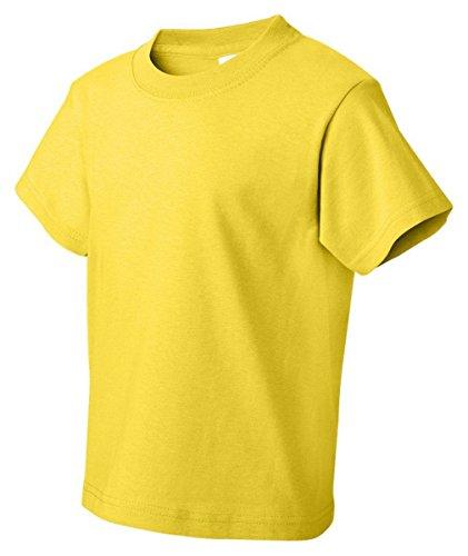 Fruit of the Loom boys Fruit of the Loom Heavy Cotton HD T-Shirt(3931B)-YELLOW-XL
