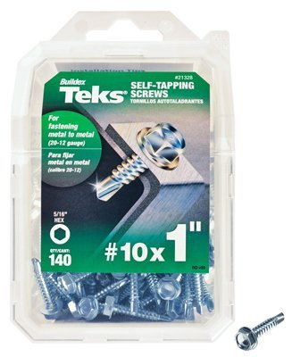 Redhead Screws - Itw Brands 21328 10x1 Self Tapping Hex Washer Head Drill Point Screw by Red Head