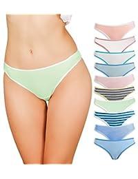 Ropa interior de algodón para mujer, paquete de 10 tangas, sin bragas, sin costuras, sexy transpirable