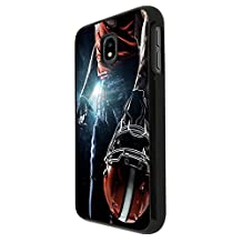 002671 - Awesome American Football Player Helmet Sports Design For Samsung Galaxy J3 (2017) Eu Version Fashion Trend CASE Back COVER Plastic&Thin Metal - Black