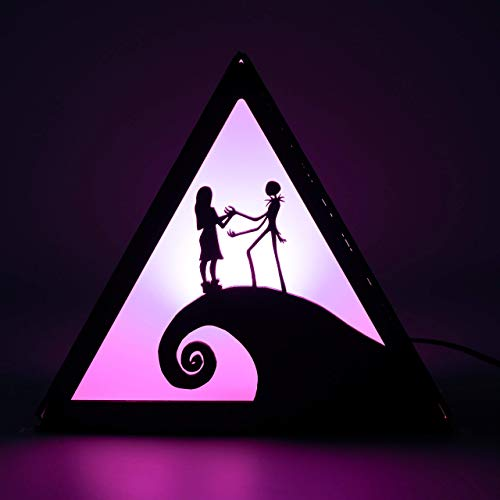 Photo Nightmare Before Christmas Lamp - This is Halloween - Desk night light - Personalized gift