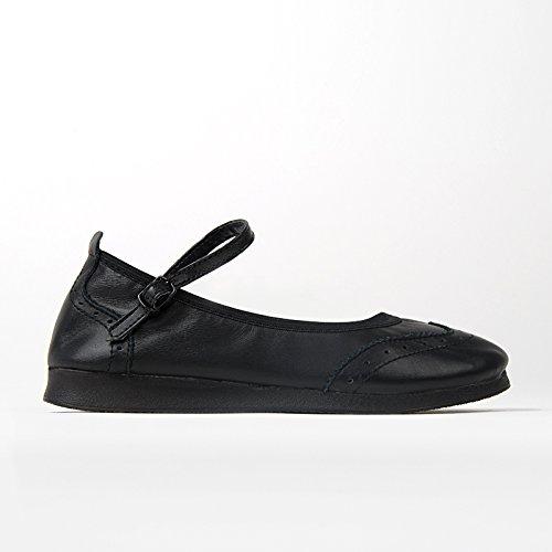 Star Zapatos de Rumpf Boogie zapatos color 1610 Negro Swing baile vR5FxwtqS