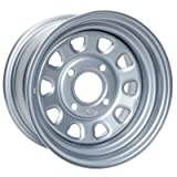 4/110 ITP Steel Wheel 12x7 5.0 + 2.0 Silver - Fits: Bombardier Traxter 500 4x4 1999-2005