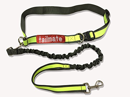 TAILMATE Hands Free Dog Leash Strong Durable Belt for Running Hiking Jogging with Durable Handle Bungee Adjuatable Waist Belt Reflective Stitching Leash