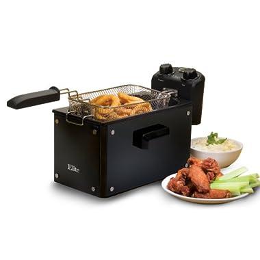 MaxiMatic EDF-3500G Elite Platinum 3-1/2-Quart Deep Fryer, Black