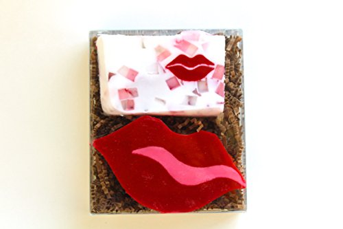 [All Natural 2 Bar Soap Spa Gift Set (Love My Lips)] (Coffee Costumes Homemade)