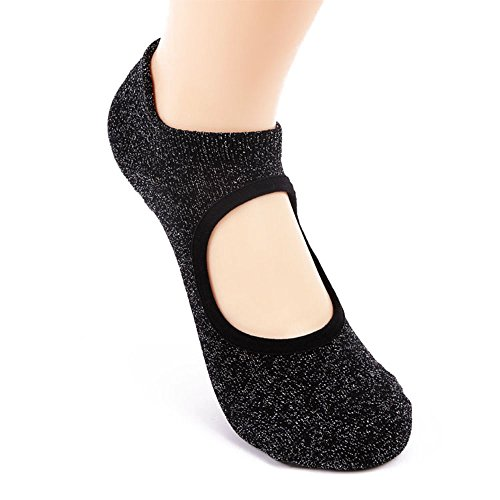 OR-RIGHT Women Ballet Socks(3pairs) Non-slip Pilates Yoga Sock for Barre Dancing made of Combed Cotton Silver Silk by OR-RIGHT (Image #1)