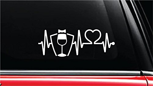 Sommelier Heartbeat Lifeline Vinyl Die-Cut Decal Sticker for Car, Truck, Notebook, Laptop, Computer or Window (8
