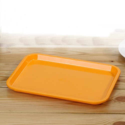 Kaxima Melamine Tableware Rectangular Plate Restaurant Plastic Tray Hotel Tray Cake Snack Bread Tray Fruit Plate Two