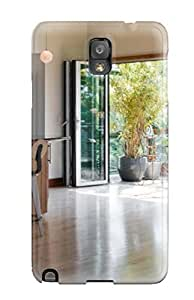 For Galaxy Note 3 Tpu Phone Case Cover(modern Wood-tone Kitchen With Glass Door Opening To Greenhouse Sun Room) by lolosakes