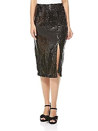 Fashion Union Straight Skirt For Women - Black