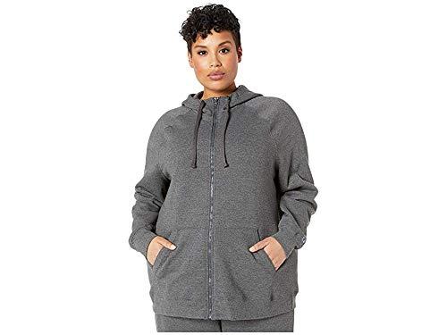 (Champion Women's Plus-Size Fleece Full Zip Hoodie, Granite Heather, 3X )