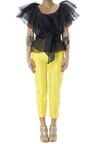 Donna Giallo Space Concept Style 40 Alta Capri Vita Pantalone SqqUzwFIp