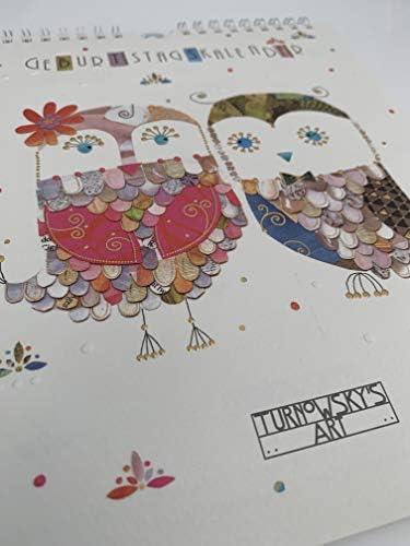 Geburtstagskalender von TURNOWSKY'S ART, jahresunabhängig & immerwährend im Format von 20 x 23 cm