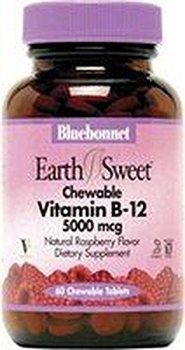 Earthsweet Vitamina B12 y Ácido Fólico 180 comprimidos masticables de Bluebonnet