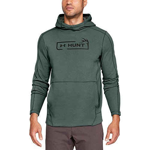 Under Armour Men's Rival Fleece Hunt Icon Hoodie, Toddy Green (370)/Artillery Green, XX-Large (Icon Sweatshirt Mens)