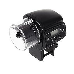 Ray-JrMALL Aquarium Automatic Fish Food Tank Feeder Timer Home BLK