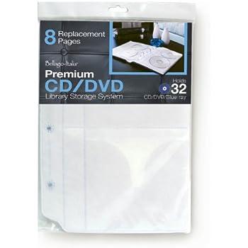 Bellagio-Italia CD/DVD Binder Insert - 4 Packs