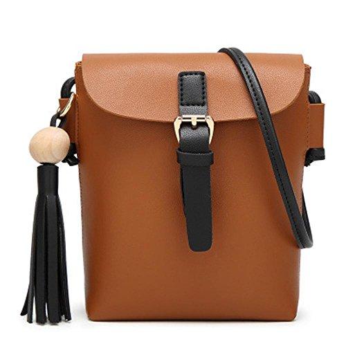 Aoligei Dame seule épaule tassel sac mobile mode décontractée Mesdames mini petit côté pack C