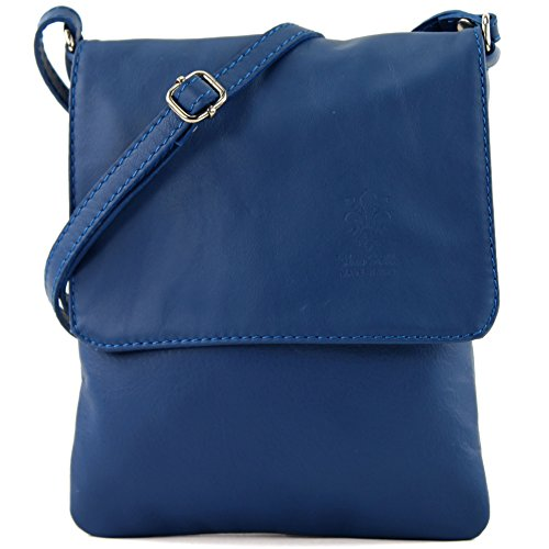 Women blau Umhänge Small De Modamoda Shoulder Colore Bag T34 Italian pFAwSqZ