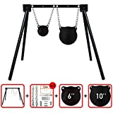 Highwild AR500 Steel Shooting Target System (1 Stand, 2 Chain Sets & 6''+10'' Gongs)