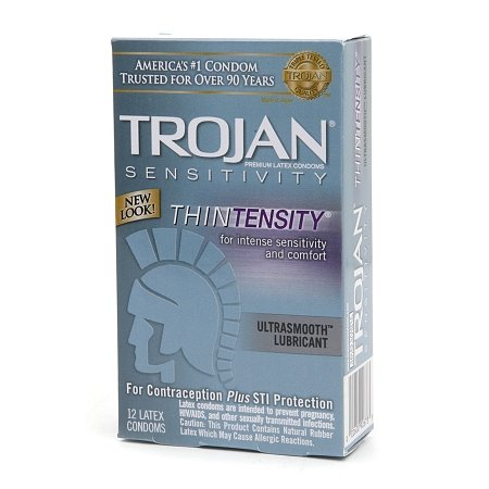 Trojan Lubricated Latex Condoms, Thintensity UltraSmooth - 2PC