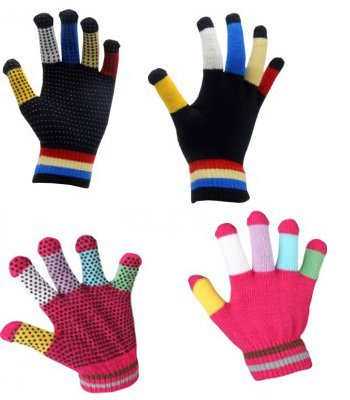 (Children's Rainbow Magic Gloves - Pink)
