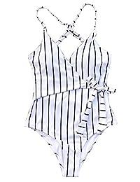 CUPSHE de Mujer Traje de baño de una Pieza de Traje de baño de Playa Traje de baño de una Pieza con Nudo