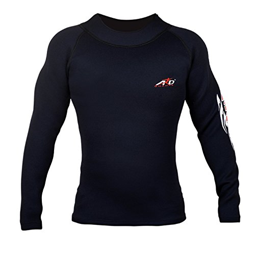 4fit Men's Long Sleeve Top Rashguard Crew Sweat shirt Weight loss (XL)