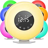 hOmeLabs Sunrise Alarm Clock - Digital LED Clock with 6 Color Switch and FM Radio for Bedrooms -...