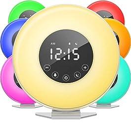 hOmeLabs Sunrise Alarm Clock – Digital LED...