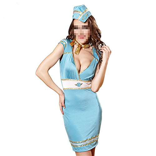 YINUO1 Flight Attendant Costume Airline Lady's Outfit Sexy