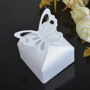 Wedding Gift Boxes Amazon : Amazon.com: The Pecan Man 50pcs Butterfly Candy Boxes Wedding Themed ...