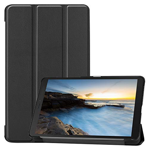 ProCase Galaxy Tab A 8.0 2019 Case T290 T295, Slim Light Cover Trifold Stand Hard Shell Folio Case for 8.0 inch Galaxy Tab A 2019 Without S Pen Model SM-T290 (Wi-Fi) SM-T295 (LTE) -Black (Galaxy Tab S 8-4 Cases And Covers)