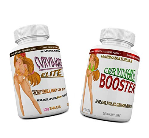 CURVIMORE Elite Complete Starter KIT Advanced Breast Enlargement, Butt Enhancement, Bust Enhancement, Booty Enhancement, Lip Plumping & Skin Tightening Pills - Bigger Breasts, Hips & Glutes. 1-Month