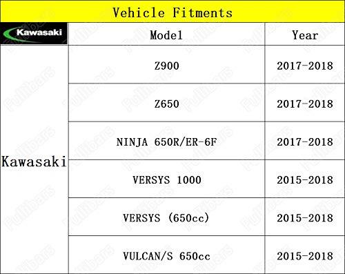 Superficie met/álica 3D Juego palancas de freno embrague para Z750 2003-2006//NINJA 650R//ER-6F//ER-6N VERSYS 650 2006-2008//GPZ500S 1990-2009//ZZR600 1990-2004//KLE500 1991-2007//ZXR400 Color Negro