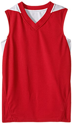 Red Kids Basketball (Teamwork Youth Turnaround Reversible Basketball Jersey, Small, Red/White)