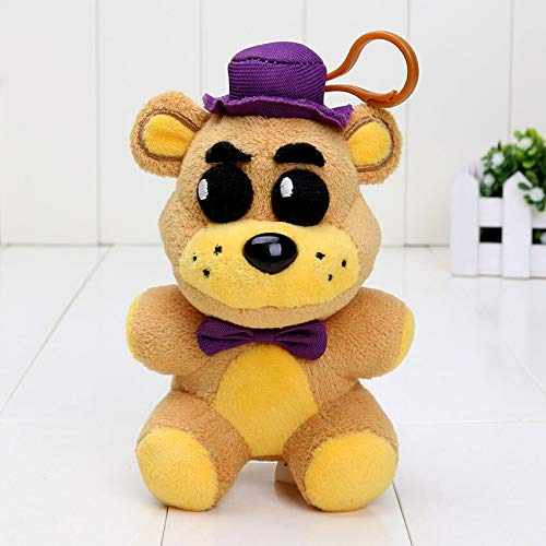 papeo FNAF Plushies 5 inch Small Soft Plush Keychain Figure Toy Mini Stuffed Toys Doll Gift Christmas Halloween Birthday Gifts Cute Collection Collectible Fazbear for Kids Adults]()
