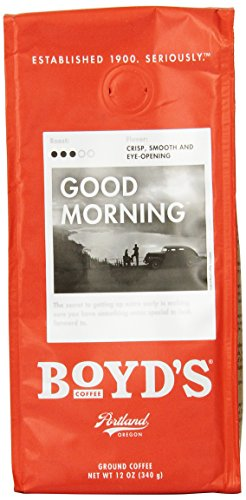 Boyd's Coffee Ground Coffee, Good Morning, Medium Roast, 12-Ounce Bag