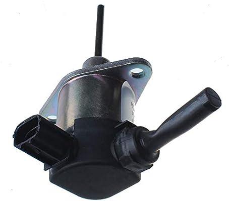 12V 1A021-60011 1A021-60016 1A021-60017 Fuel Shut Down Cut Off Solenoid Valve for Bobcat Loader S150 S185 T190 AL275 Hayter Mower T424 R324T Toro Reelmaster 4240-D Kubota Tractor L2800 L3200 L3240DT