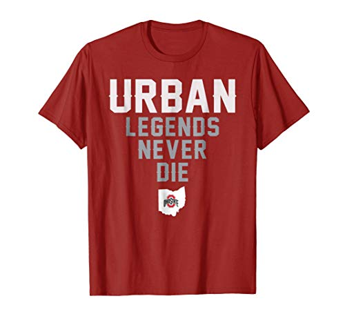 Urban Legends Never Die Ohio Distressed State Design Shirt