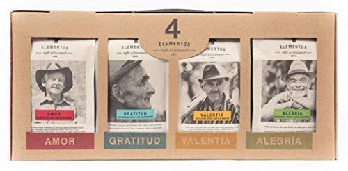 4 Elementos Artisan Coffee Sampler Gift Box, Whole Bean ()