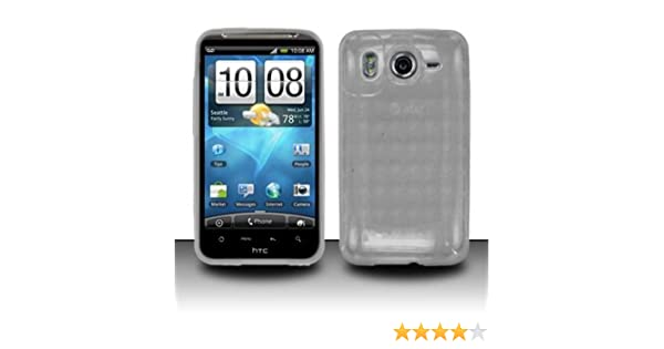 finest selection d37bf b81d4 Crystal Clear Checker TPU Skin Protector Cover Case for HTC Inspire 4G  (AT&T)